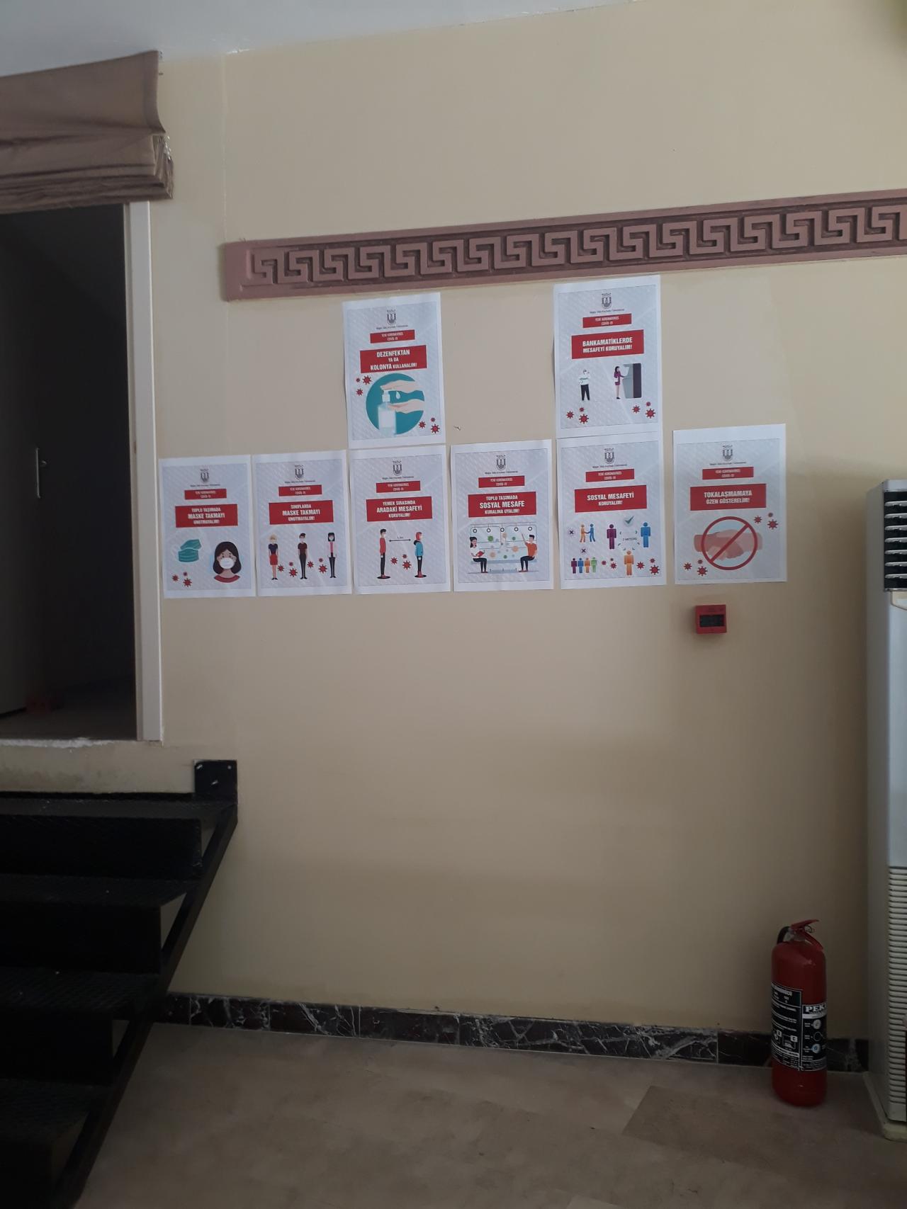 Yüksekokulumuzun Koronavirüs (COVİD – 19) Pandemisiyle Mücadele Kapsamında Yaptığı Çalışmalar