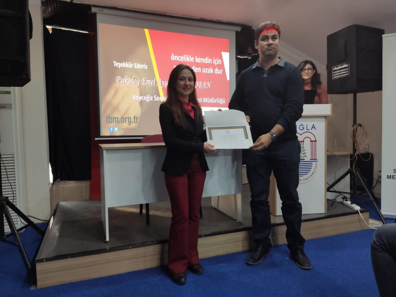 Köyceğiz Meslek Yüksekokulu Müdürlüğü Alkol Sigara Uyuşturucu Bağımlılığı Farkındalık eğitim semineri