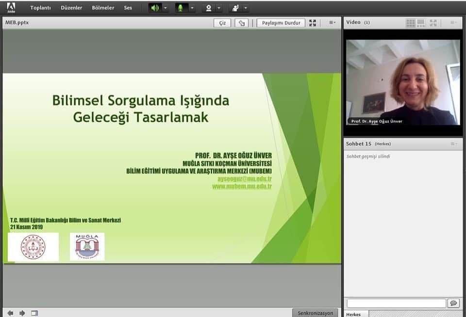 Türkiye geneli BILSEMler e-konferansı: Bilimsel Sorgulama Işığında Geleceği Tasarlamak