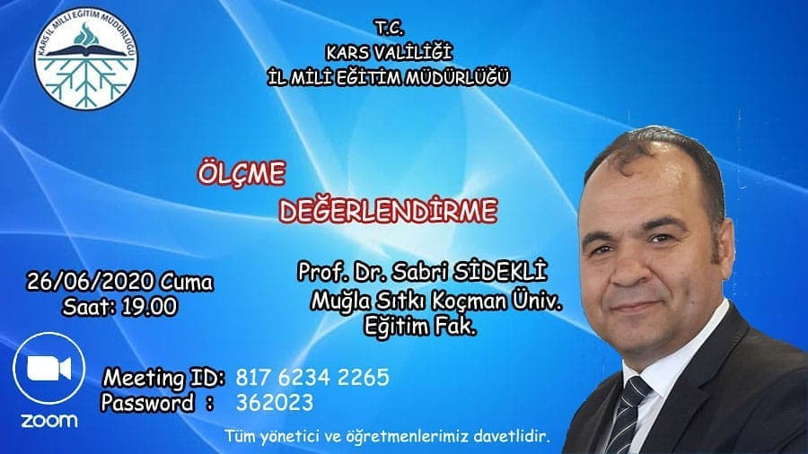 Prof.Dr. Sabri SİDEKLİ Ölçme-Değerlendirme