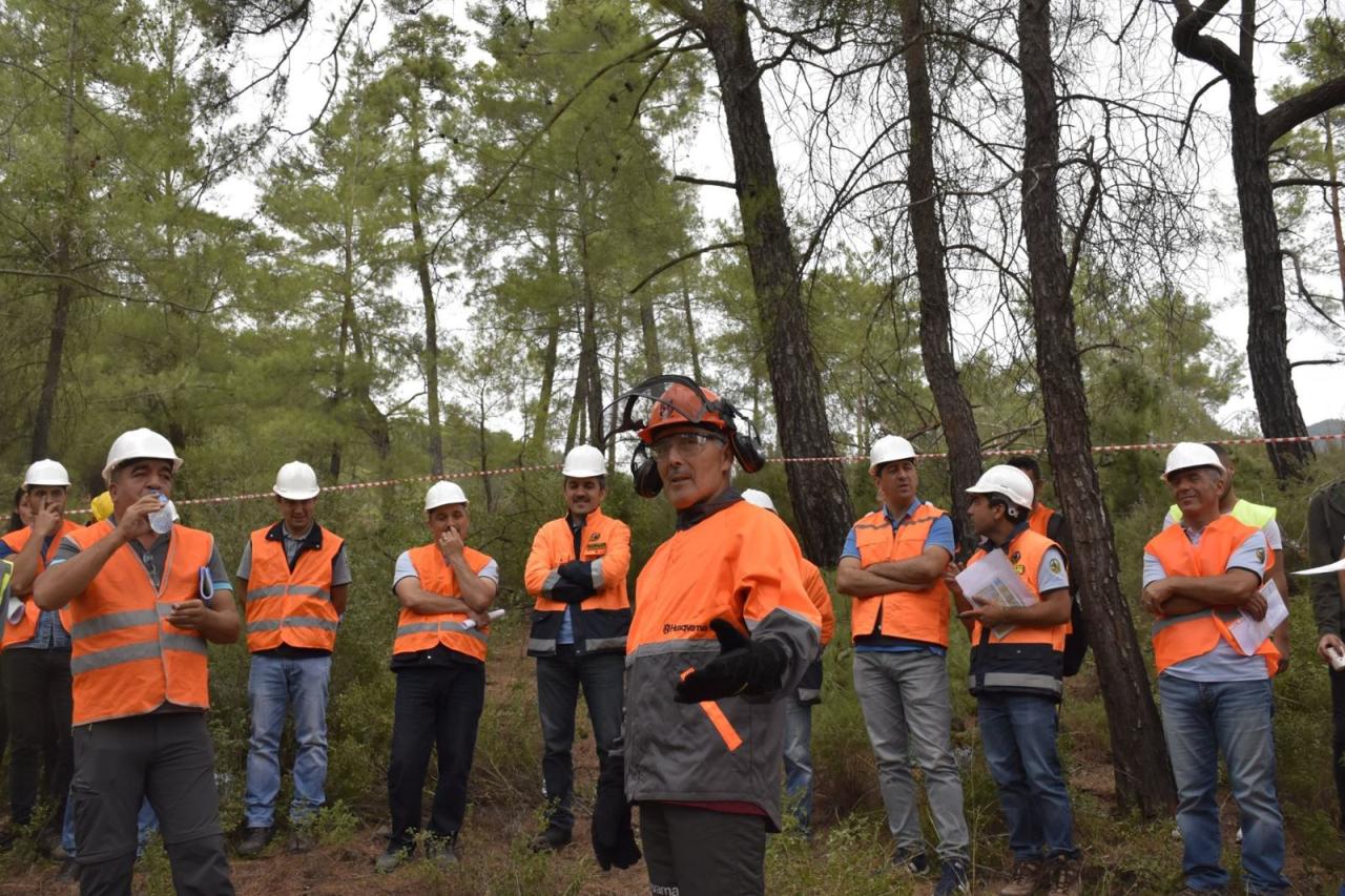 Mesleki uygulama ve Ormancılık İş Bilgisi derslerinin uygulaması kapsamında, Muğla OBM'ce düzenlenen hizmet içi eğitime katılım gerçekleştirilmiştir.